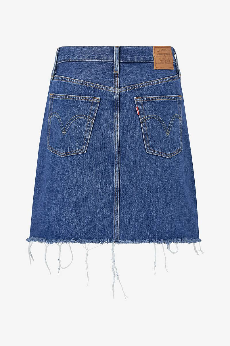 Jeanskjol High-Rise Deconstructed Skirt