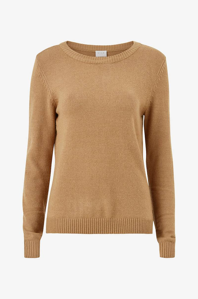 Trøje viRil L/S O-neck Knit Top