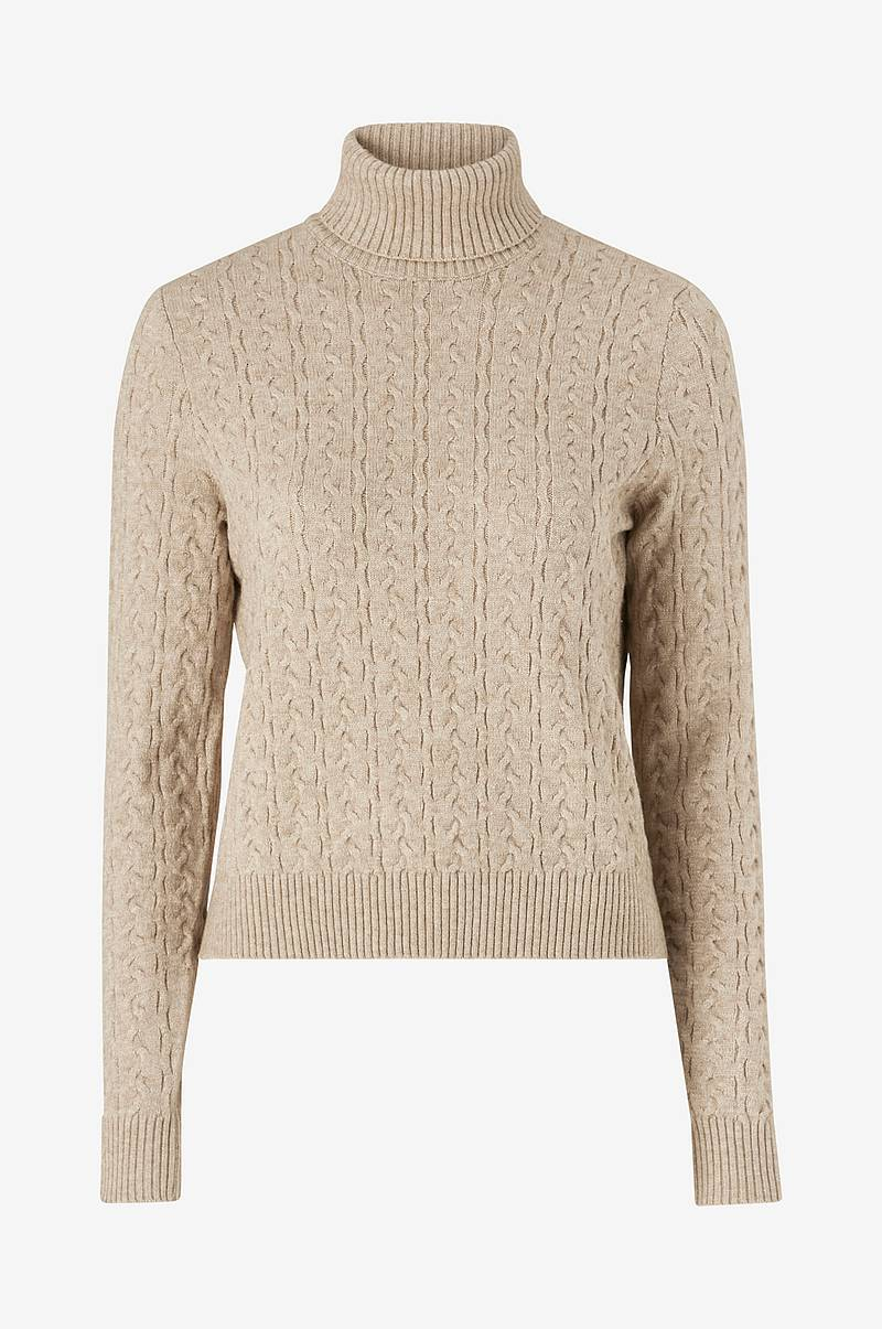 Neulepusero viRil Knit L/S Rollneck Cable Top