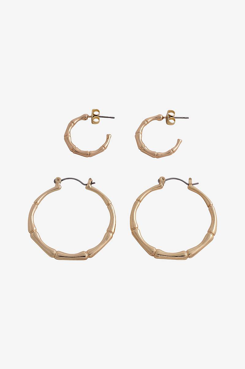 Øredobber pcJambu Hoop Earrings 2-pk