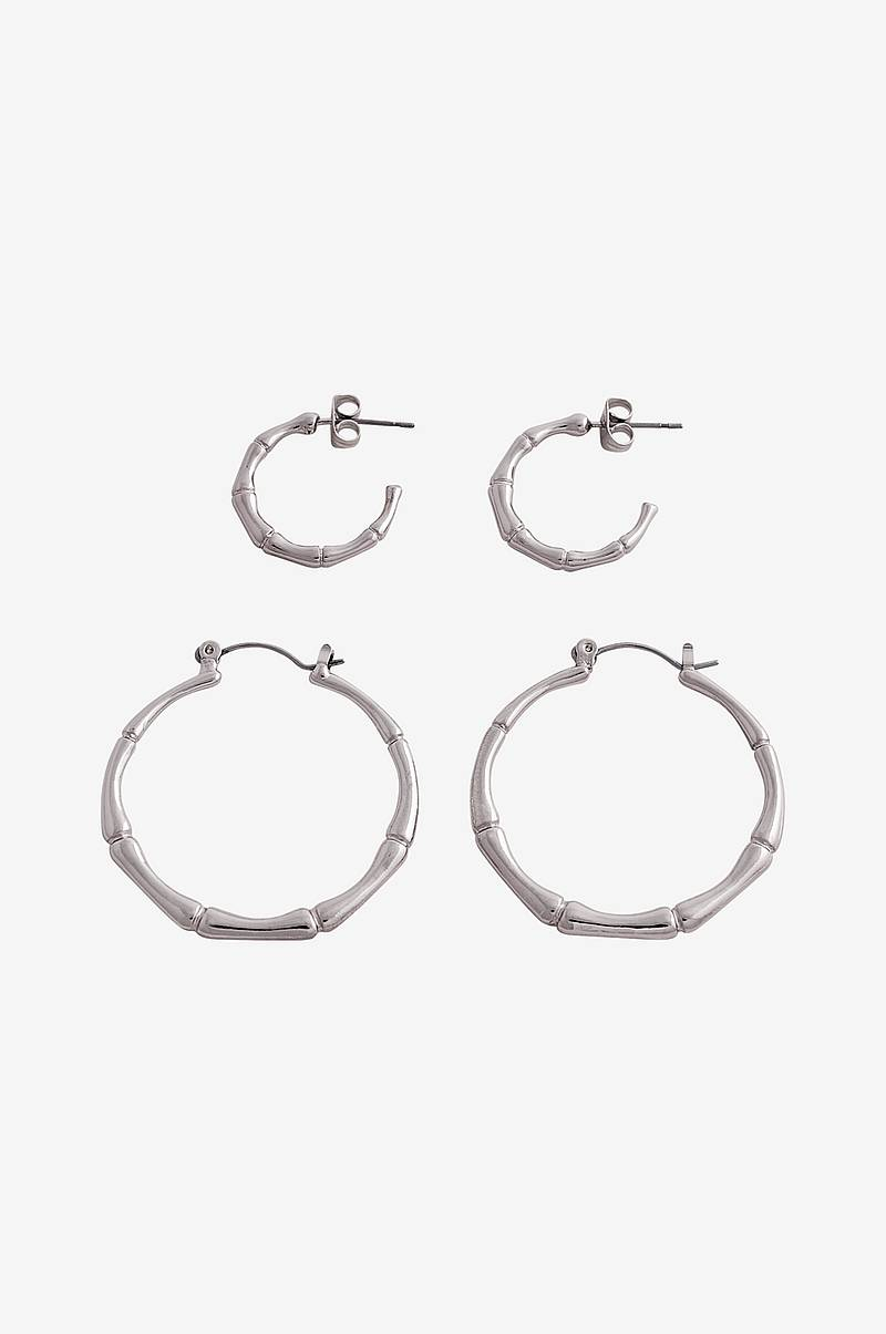 Øreringe pcJambu Hoop Earrings 2-pak