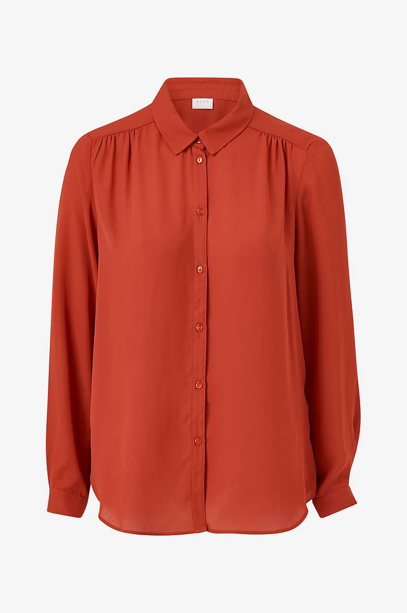 Skjorte viLucy L/S Button Shirt
