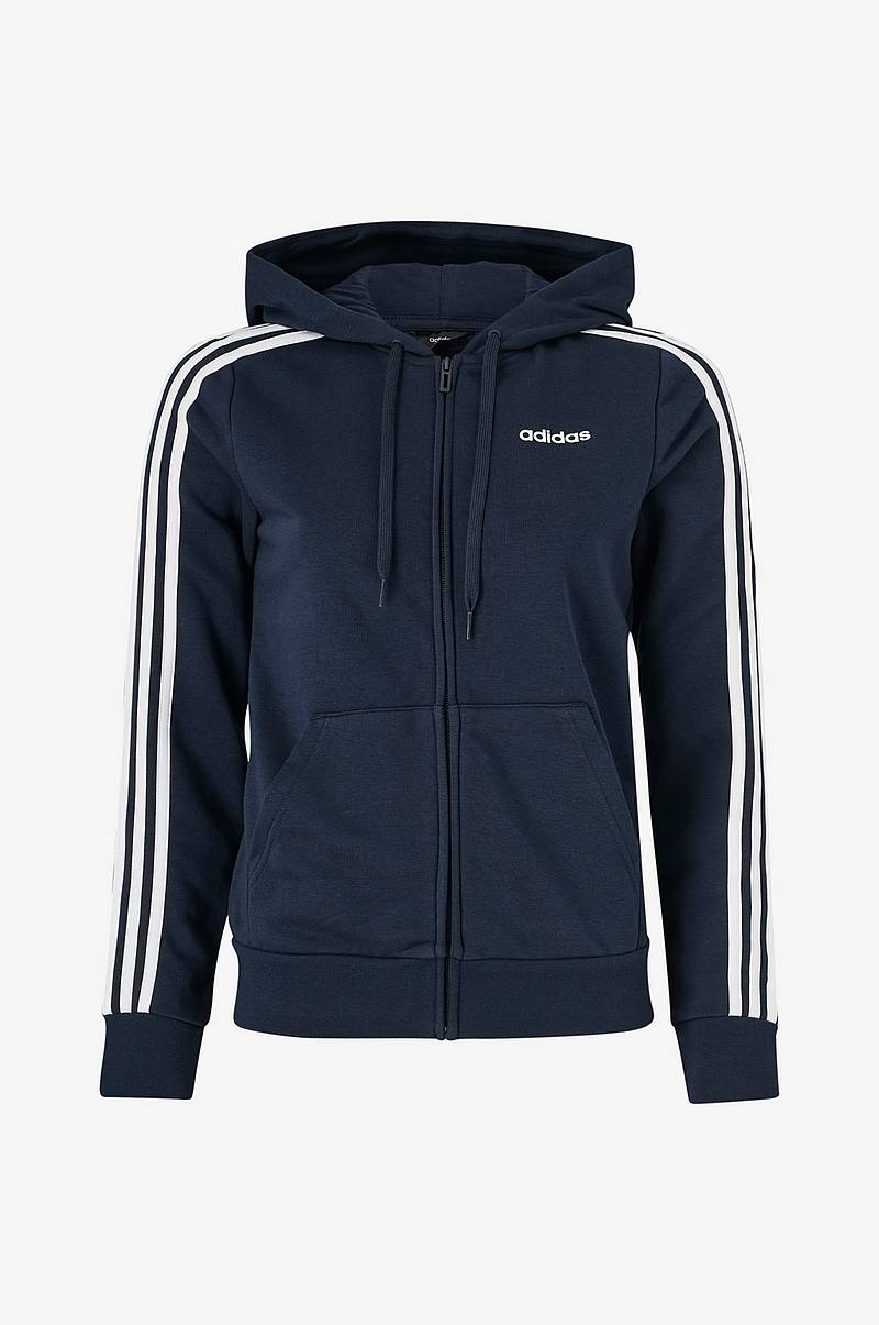 Huppari Essentials 3-stripes Full-zip Hoodie