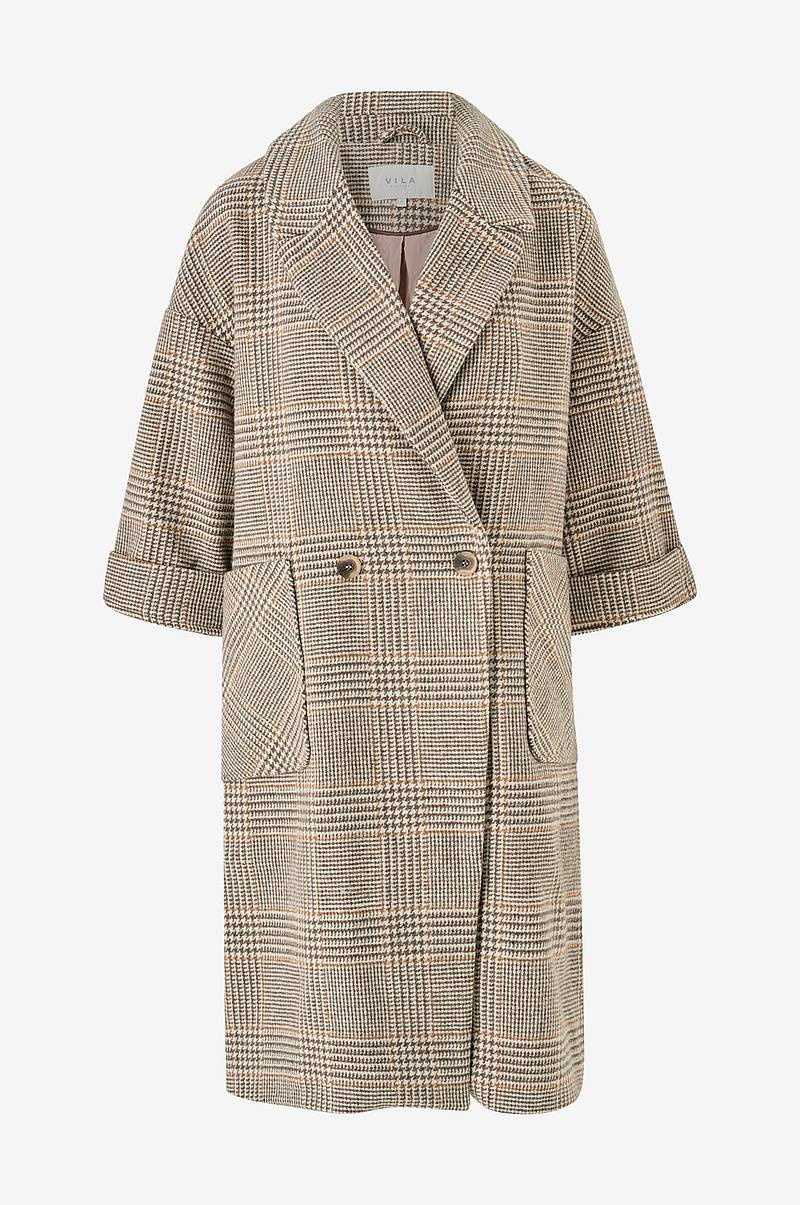 Frakke viAmoro Wool 7/8 Sleeve Coat