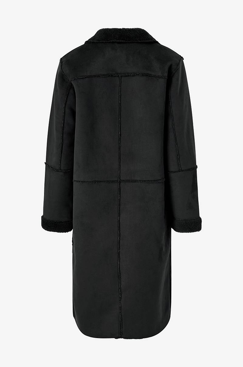 Frakke viSherling Faux Sherling Coat