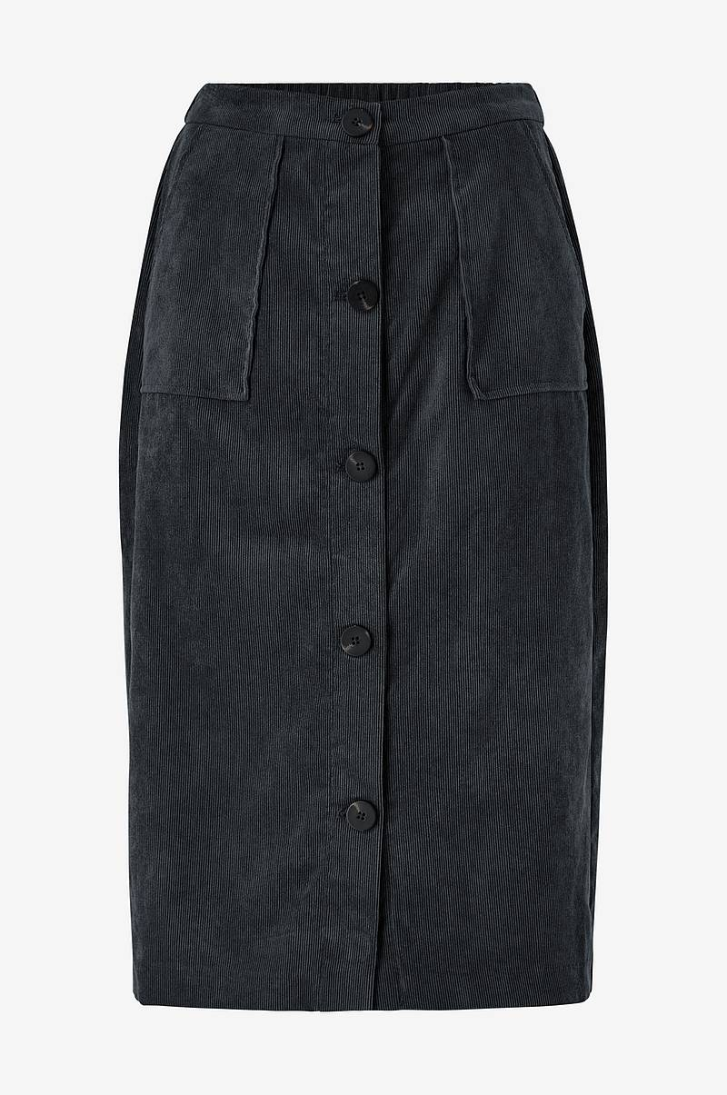 Vakosamettihame viJosy Button HW Skirt