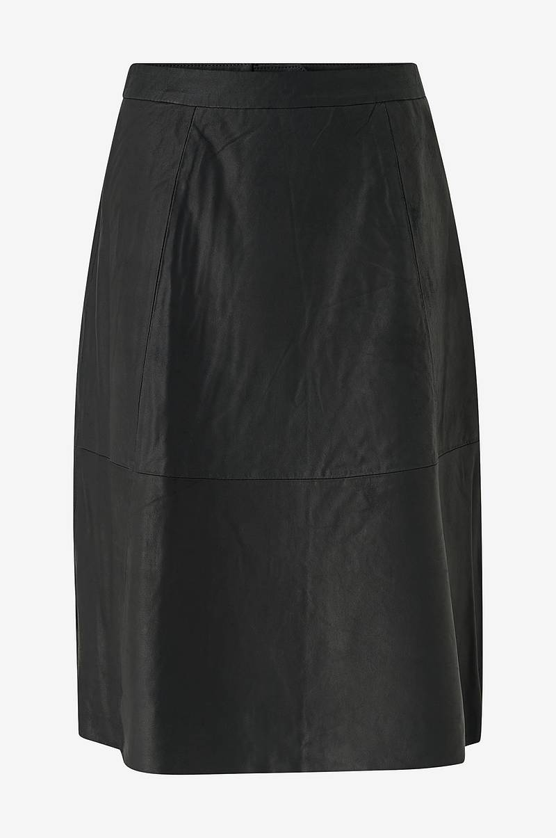 Nahkahame slfMarla HW Midi Leather Skirt