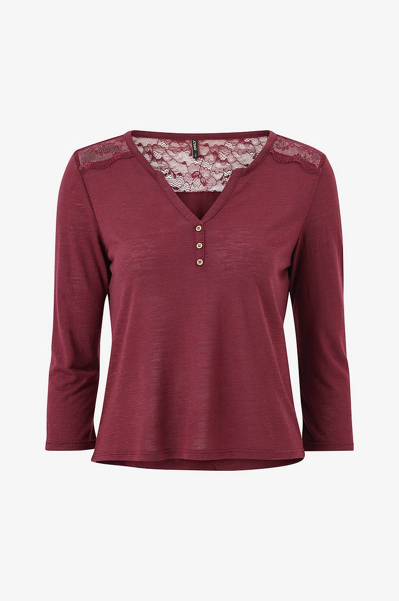 Pusero onlElena 3/4 Placket Top