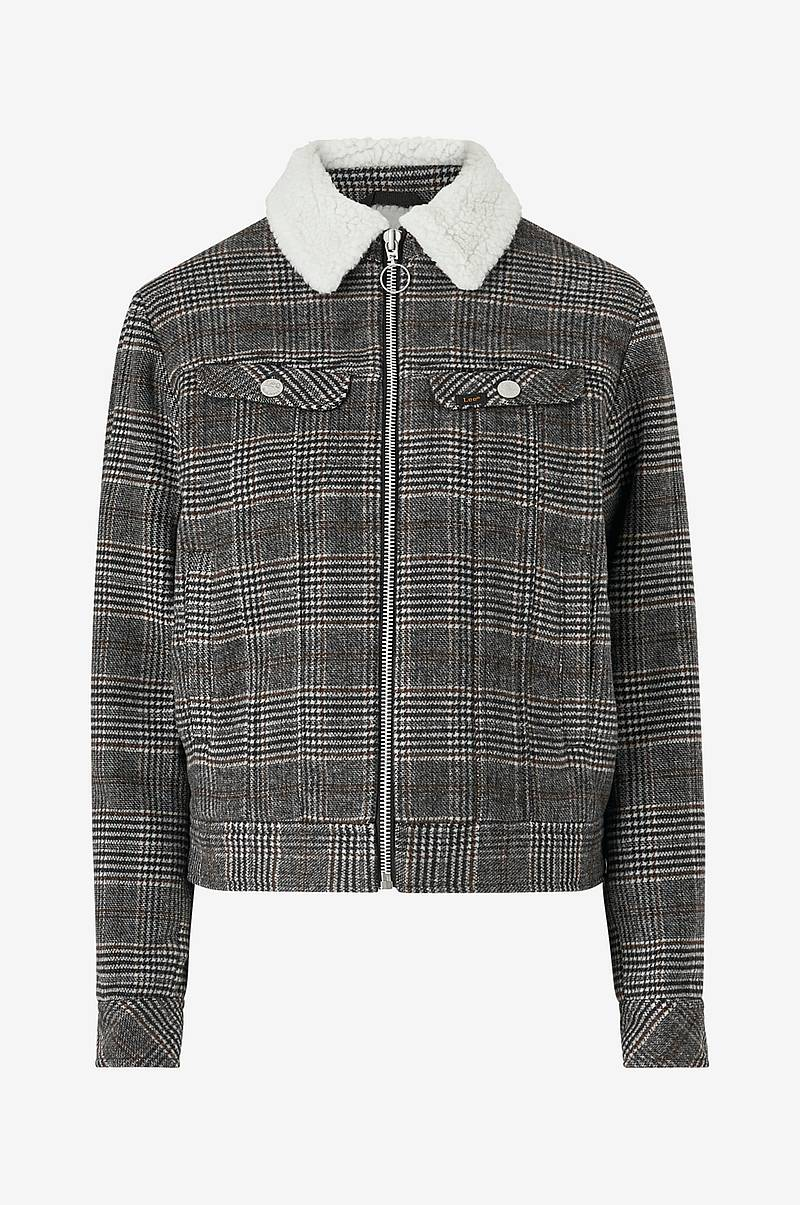 Jakke Wool Check Sherpa Jacket