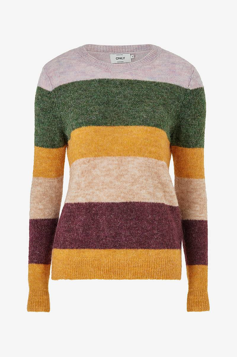 Neulepusero onlSusi L/S Strip Pullover Wool
