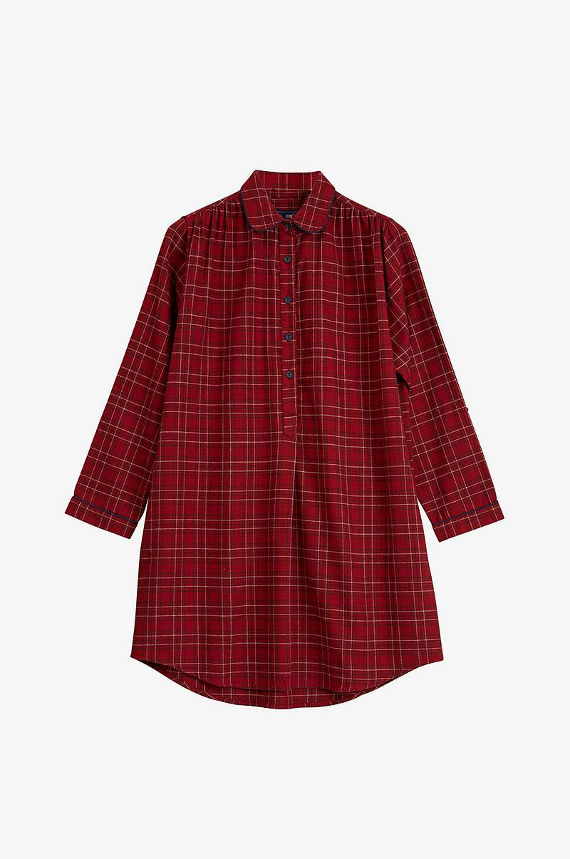 Natkjole Womens Checked Flannel