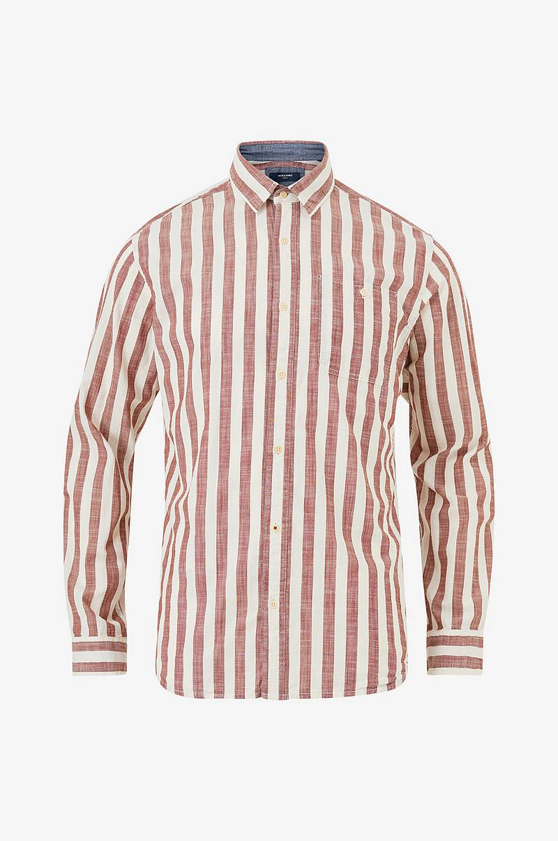 Skjorte jprMax Stripe Shirt L/S One Pocket