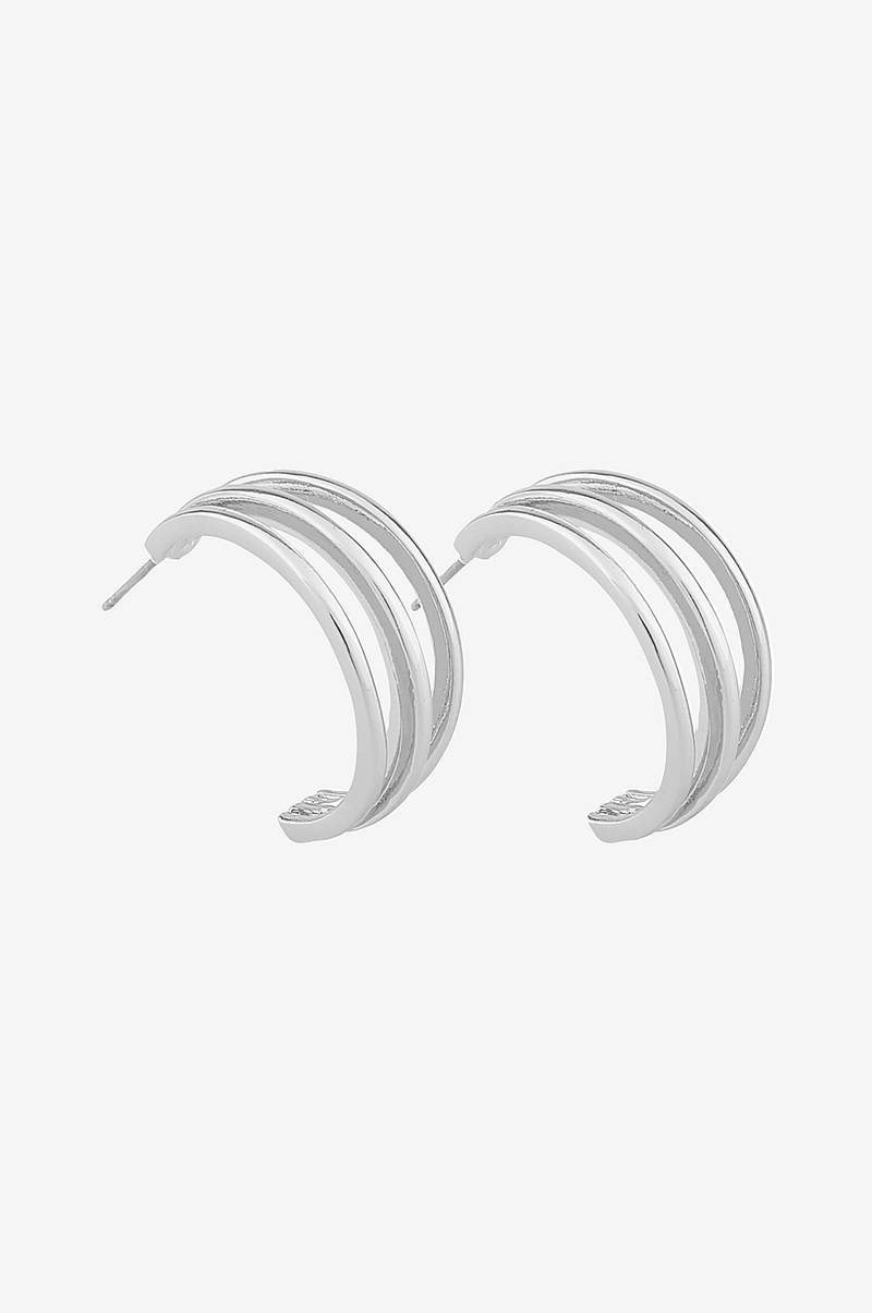 Øreringe Mette Wide Oval Earring