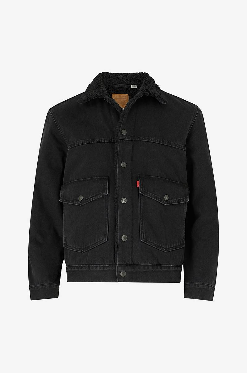 Denimjakke Patch Pkt Sherpa Trucker Ricky