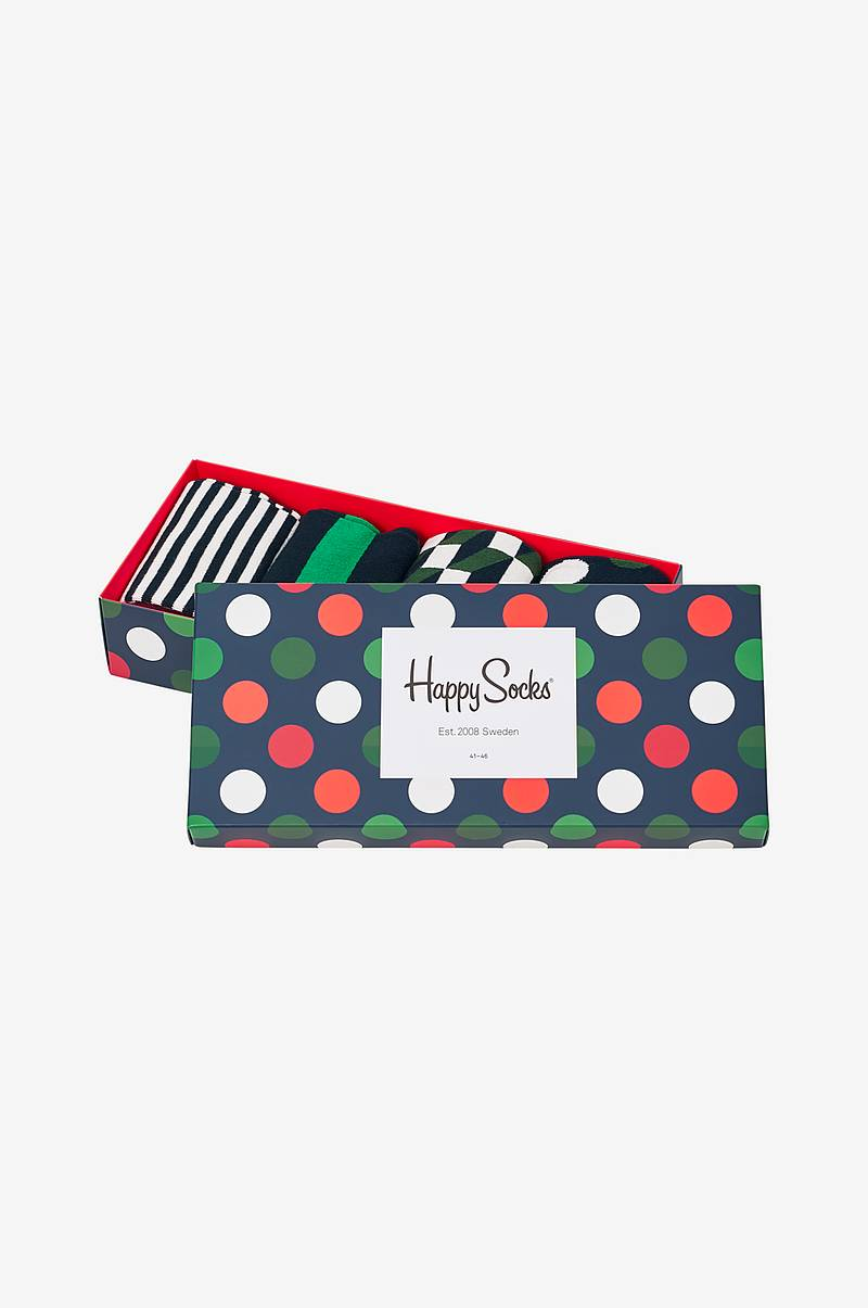 Presentask strumpor Holiday Big Dot Gift Box 4-pack