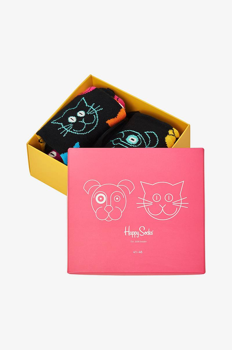 Presentask strumpor Cat vs Dog Gift Box 2-pack