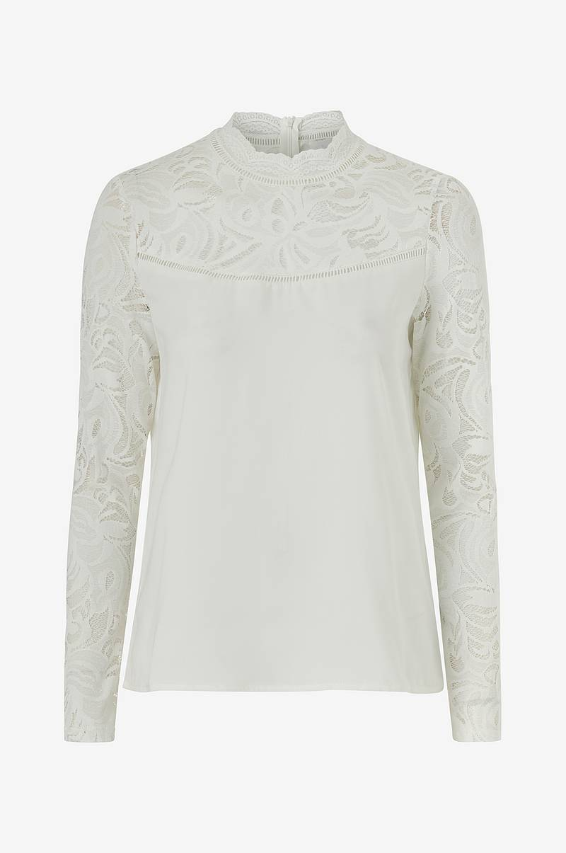 Topp viStasia L/S Solid Lace Top
