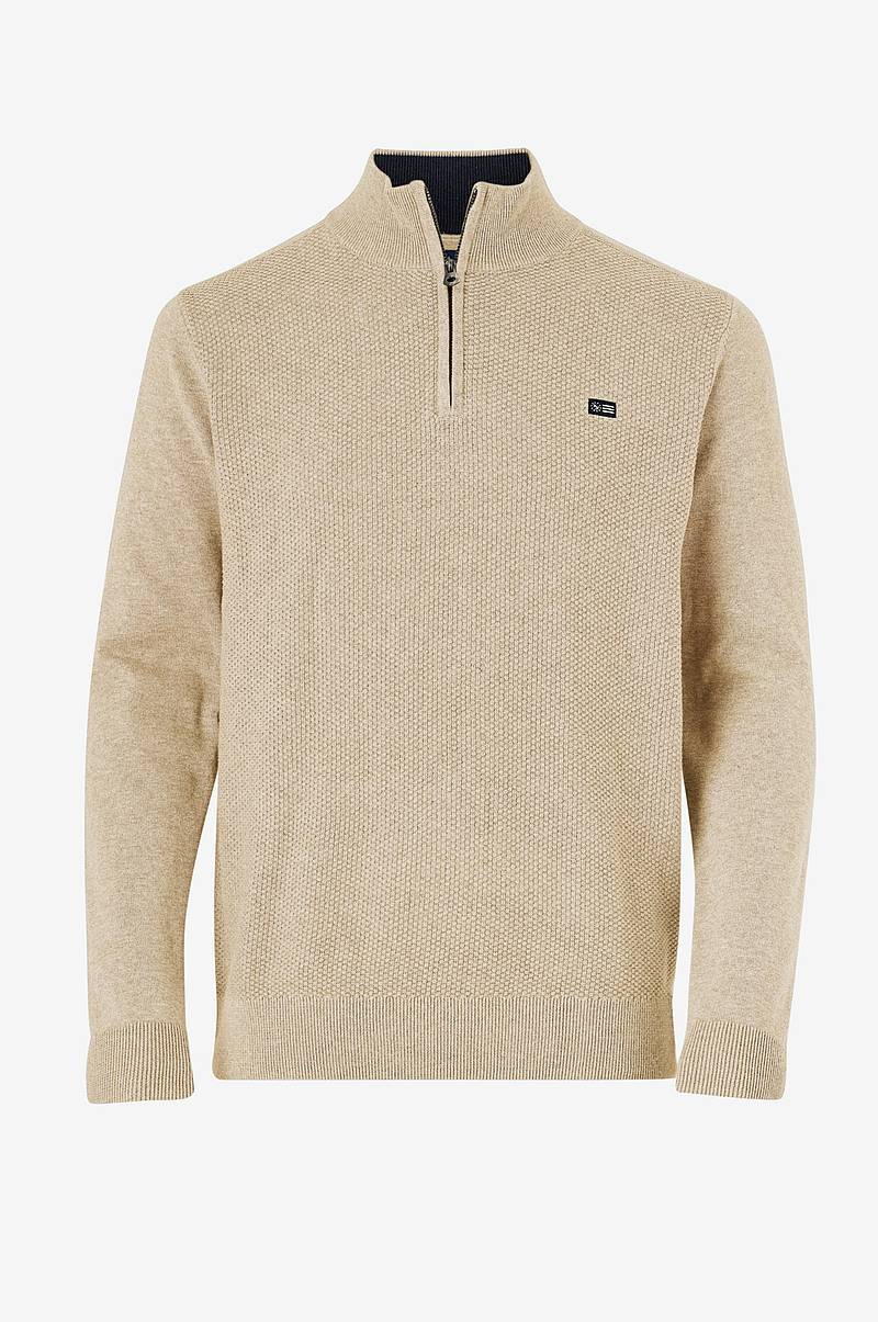 Trøje Structured Half Zip Knit