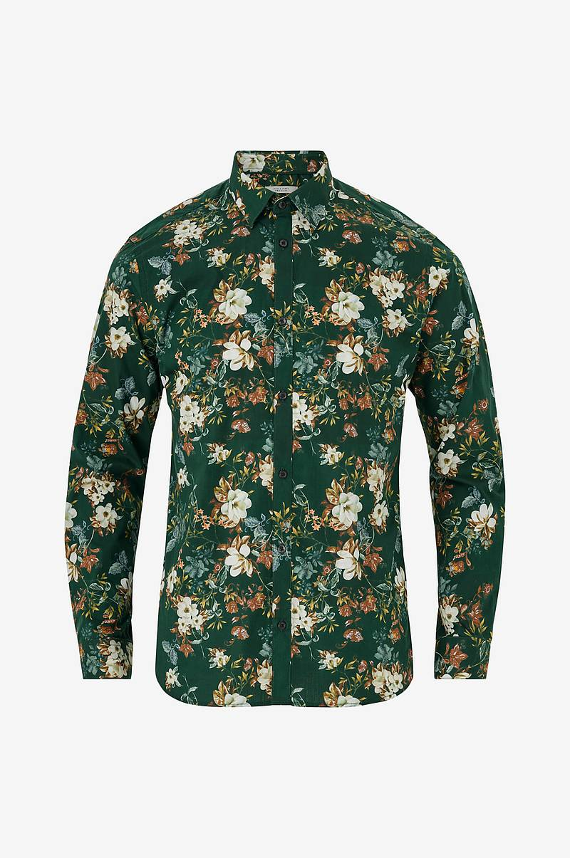 Skjorte jprHank Flower Shirt L/S Plain, slim fit
