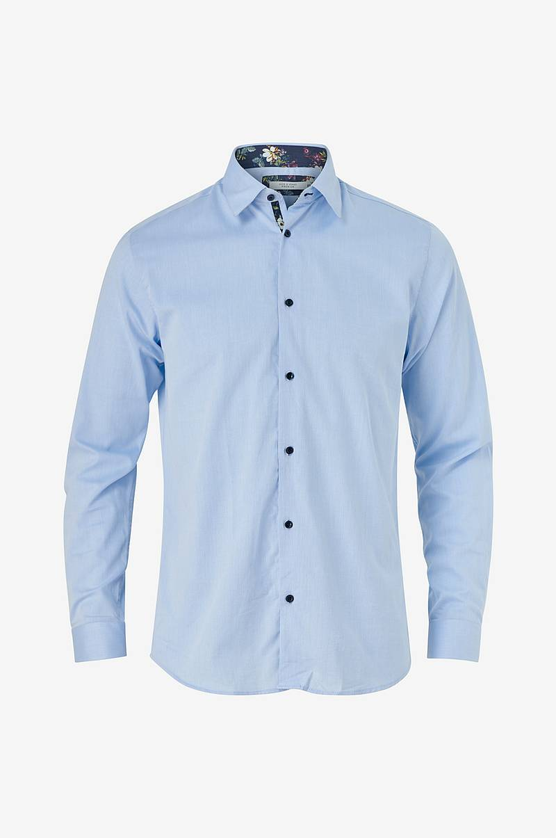 Skjorta jprHank Detail Shirt L/S Plain, slim fit
