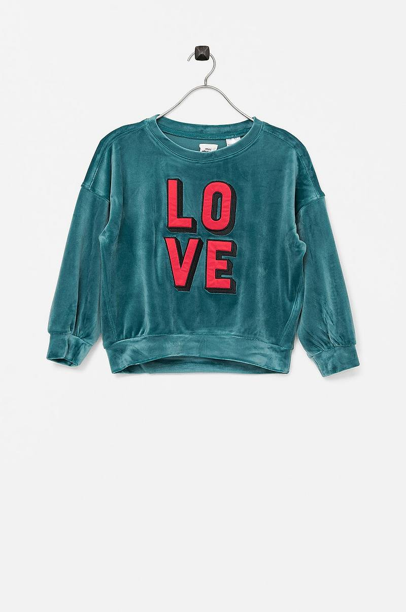 Sweatshirt Mini Velour Sweatshirt