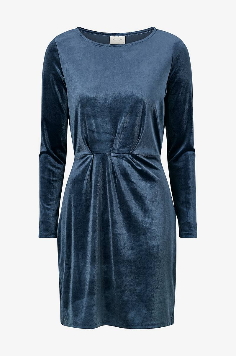 Velourkjole viMInny Velvet L/S Detail Dress
