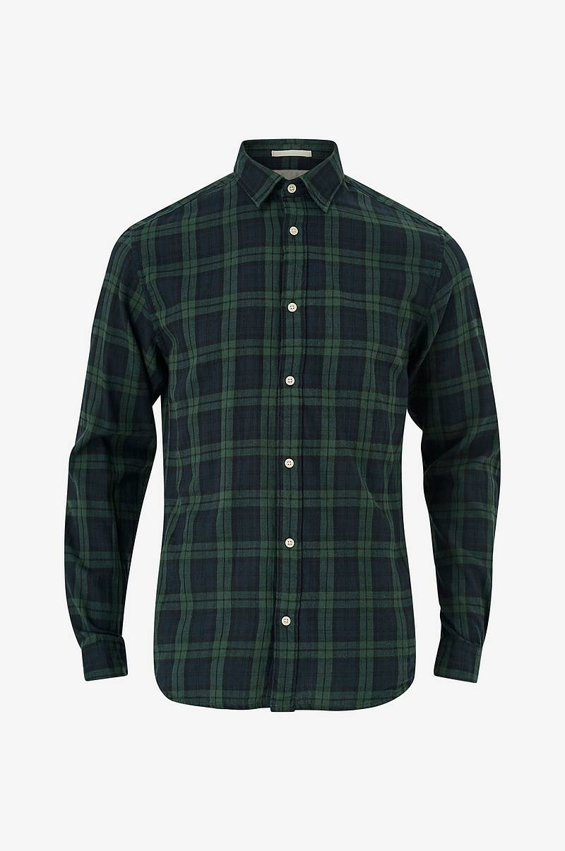 Skjorte slhSlimwood Shirt LS Check W
