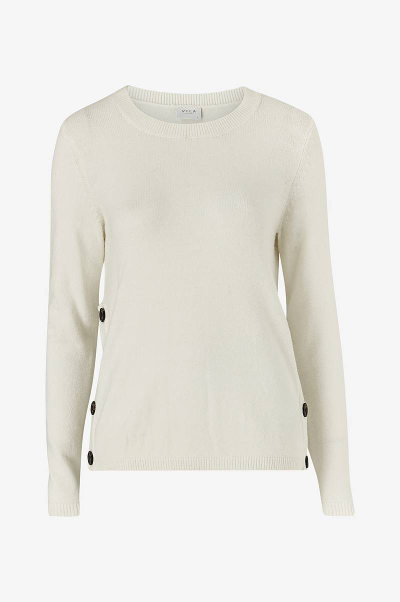 Trøje viRil Buttoned O-neck Top