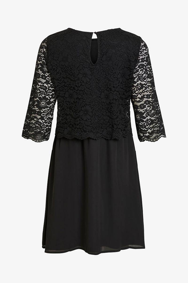 Kjole viLovia Lace 3/4 Dress