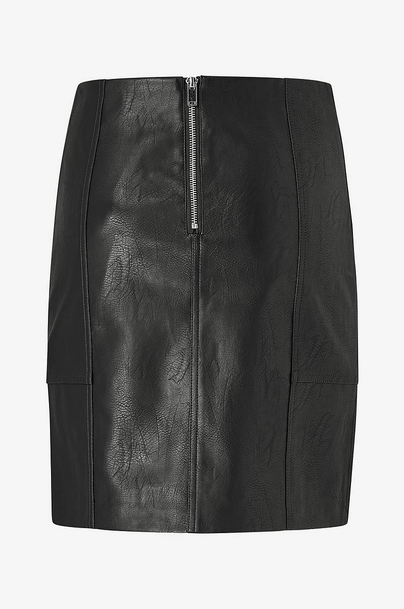 Hame onlSky Faux Leather Skirt