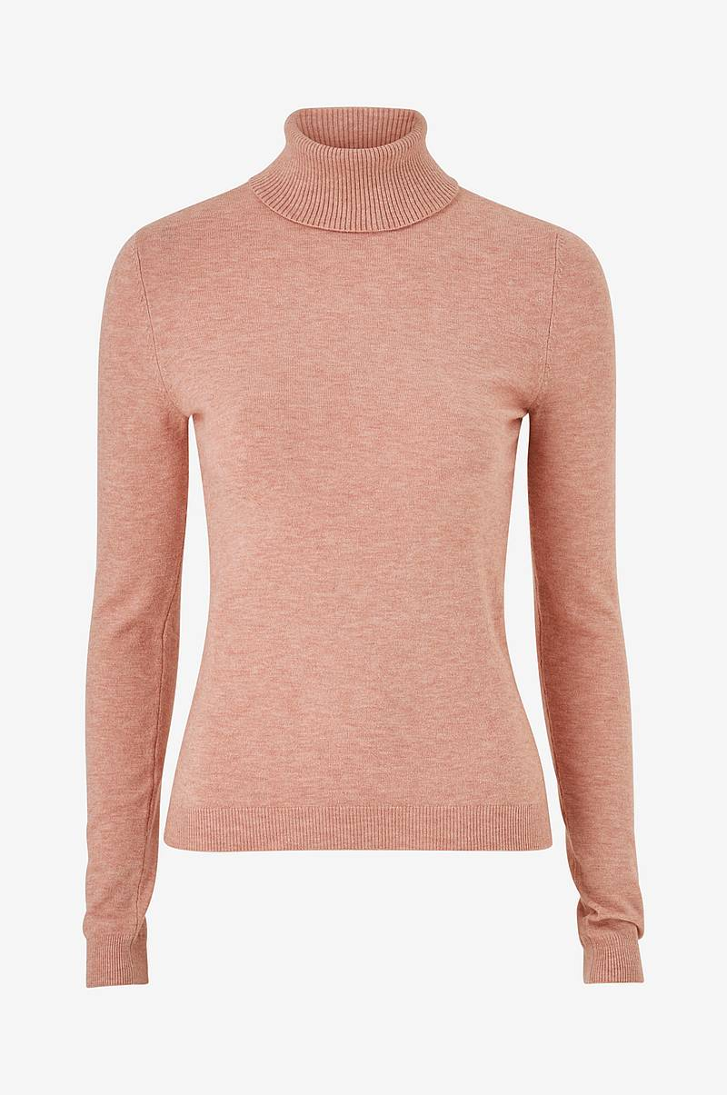 Poolopusero vmHappy Basic LS Rollneck Blouse
