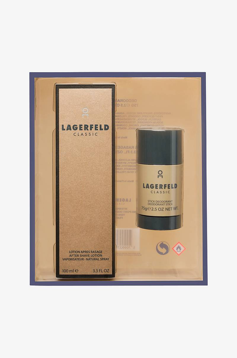 Gaveæske Lagerfeld Classic After Shave 100 ml / Deo Stick 75 g