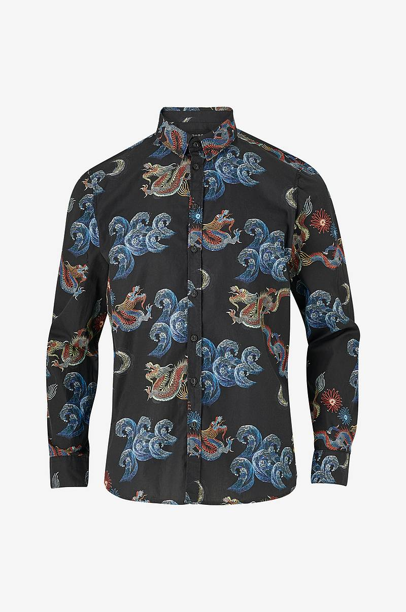 Skjorte Brooks Dragon Black Shirt LS