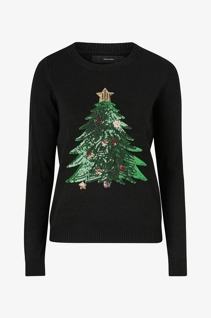 Jouluneule vmShiny Christmas Tree LS Blouse