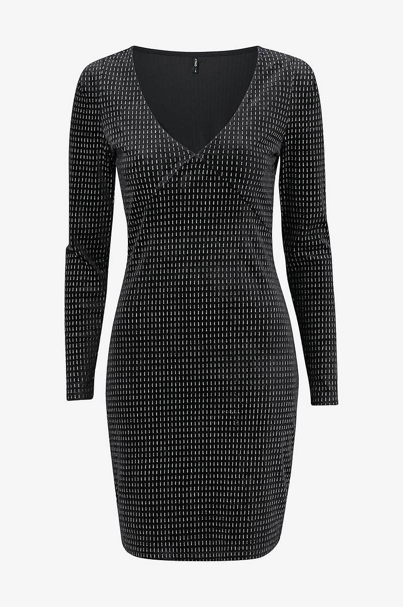 Klänning onlLovable L/S Glitter Bodycon Dress
