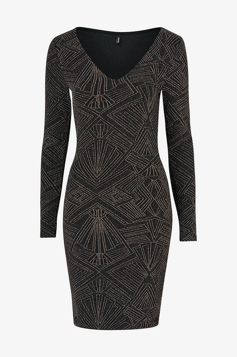 Klänning onlShine L/S V-Neck Bodycon Dress