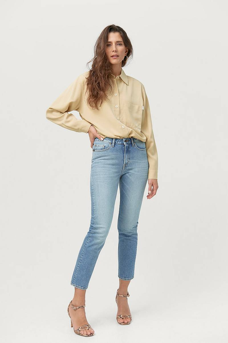 Jeans Meg High Waist Slim Cropped