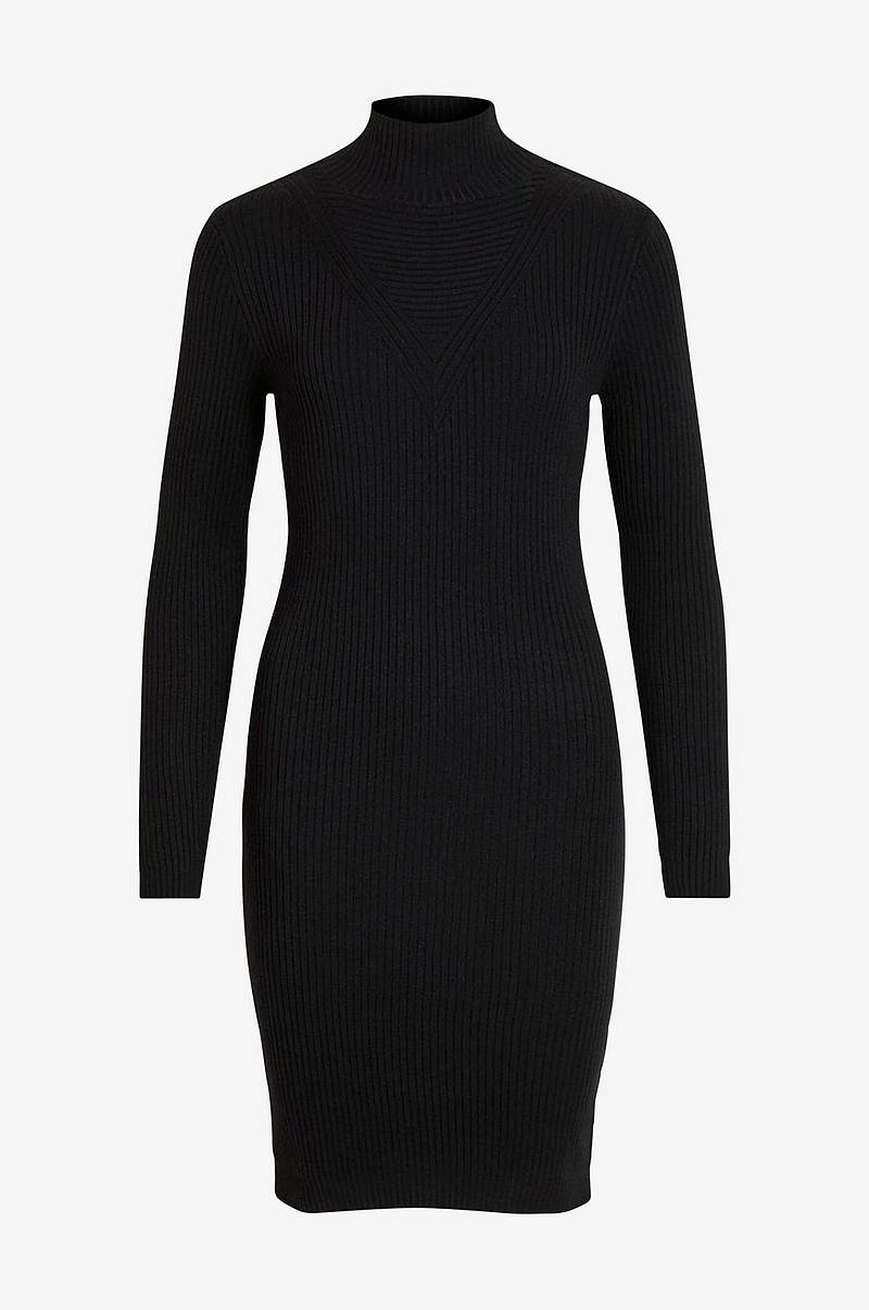 Mekko viAndena Knit Funnel Neck L/S Dress