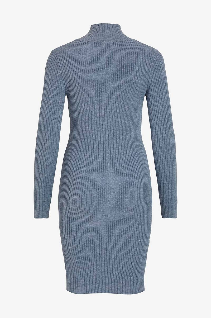 Kjole viAndena Knit Funnel Neck L/S Dress