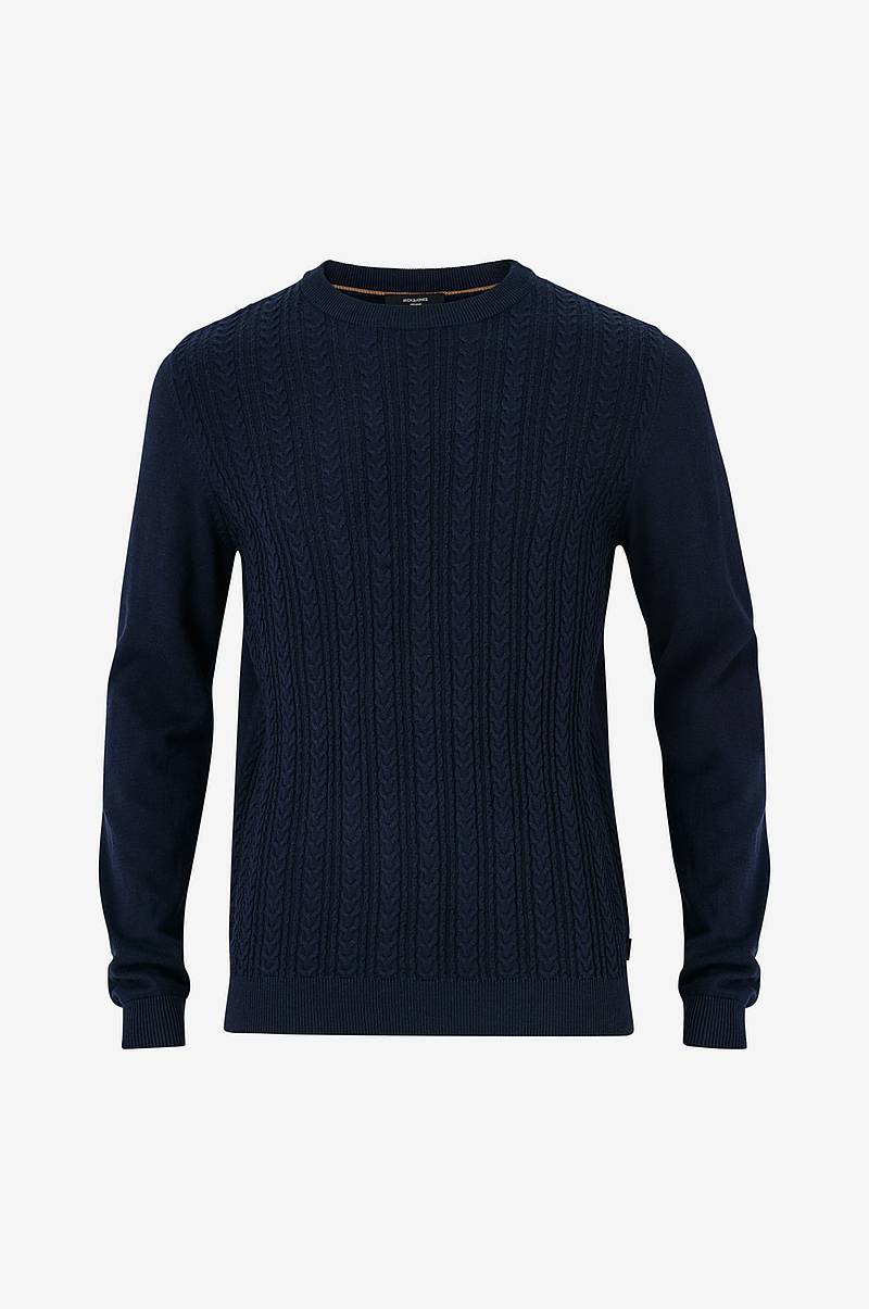 Tröja jprFast Cable Knit Crew Neck