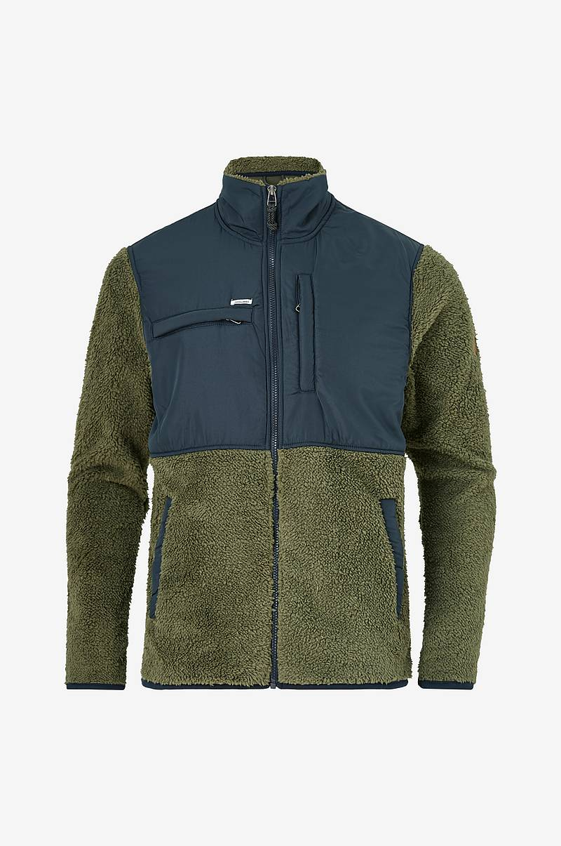 Fleecejakke jprRowan Blu. Fleece Solid Zip Through