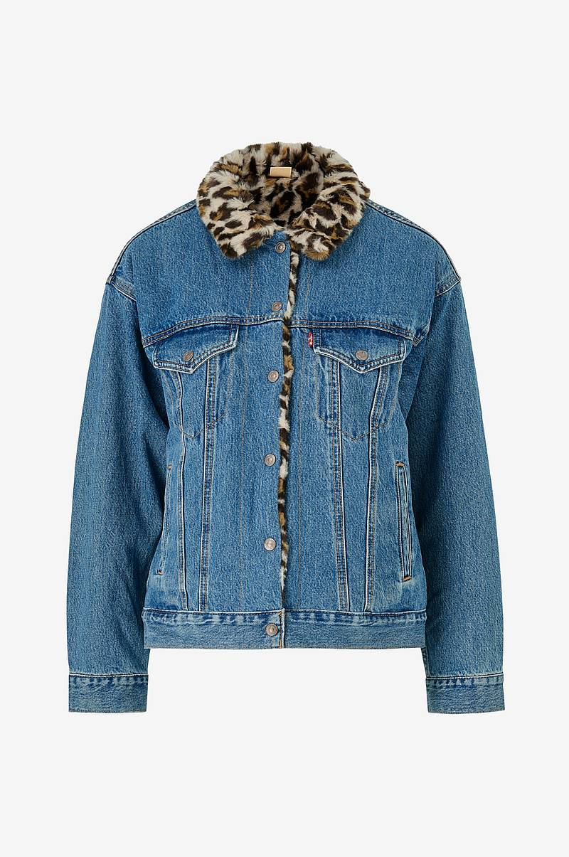 Jeansjakke Fur Dad Trucker Cat Eye