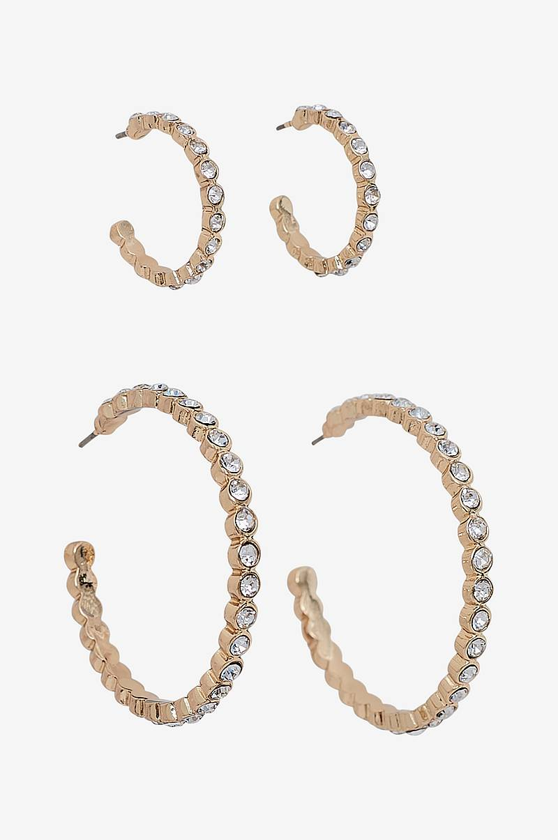 Örhängen pcJamie Hoop Earrings Key 2-pack