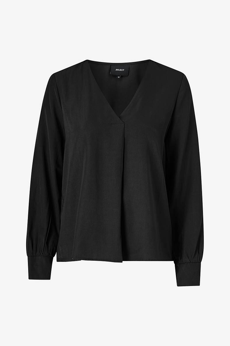 Bluse objEileen L/S V-neck Top