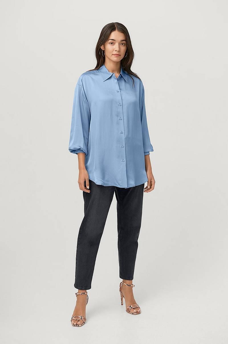 Skjorte, stribet Zizzi Skjorter & bluser til Kvinder i