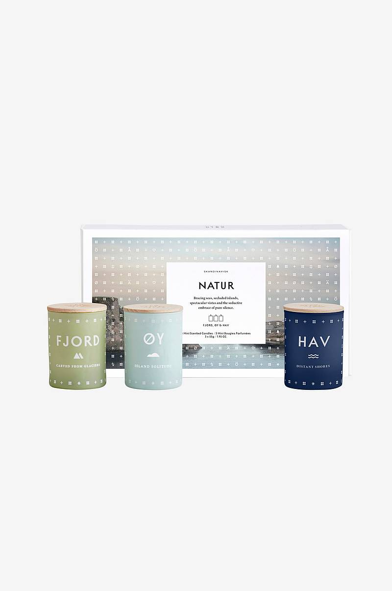 Gaveeske NATUR Mini Candle Set