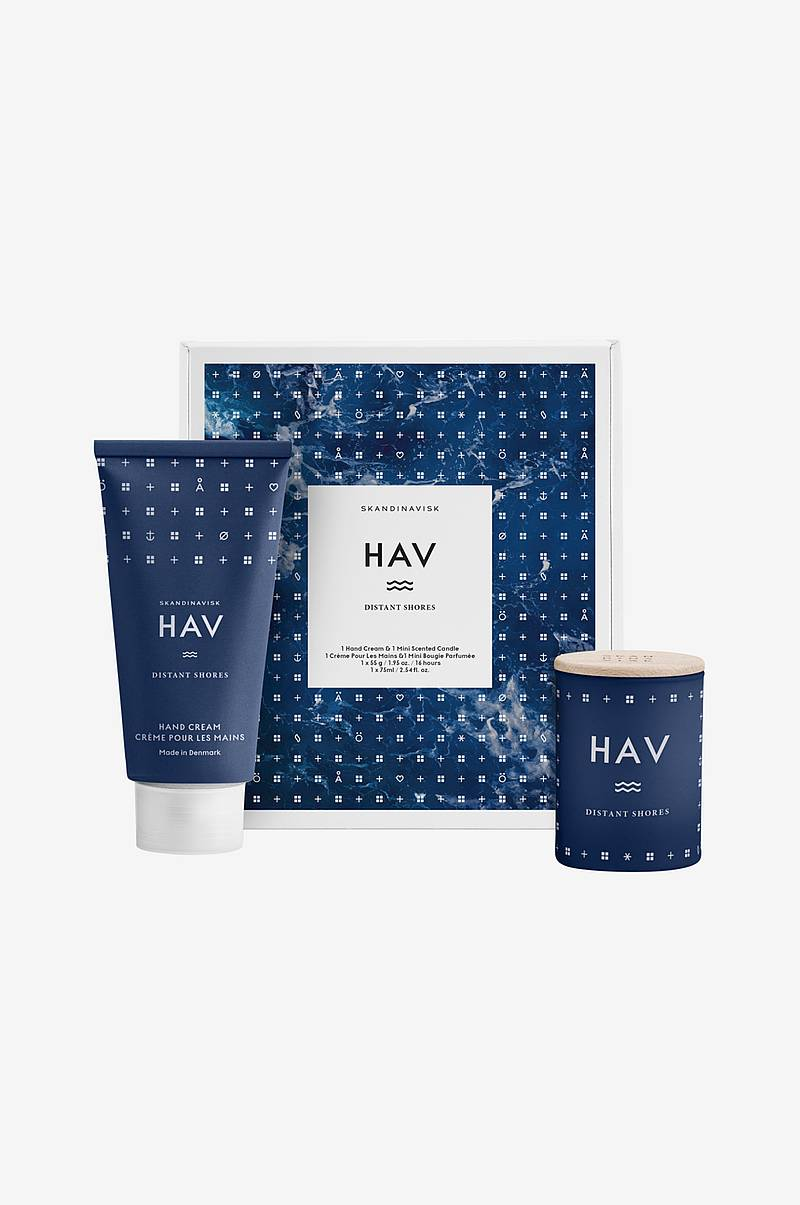 Gaveæske HAV Mini Candle & Handcream Set