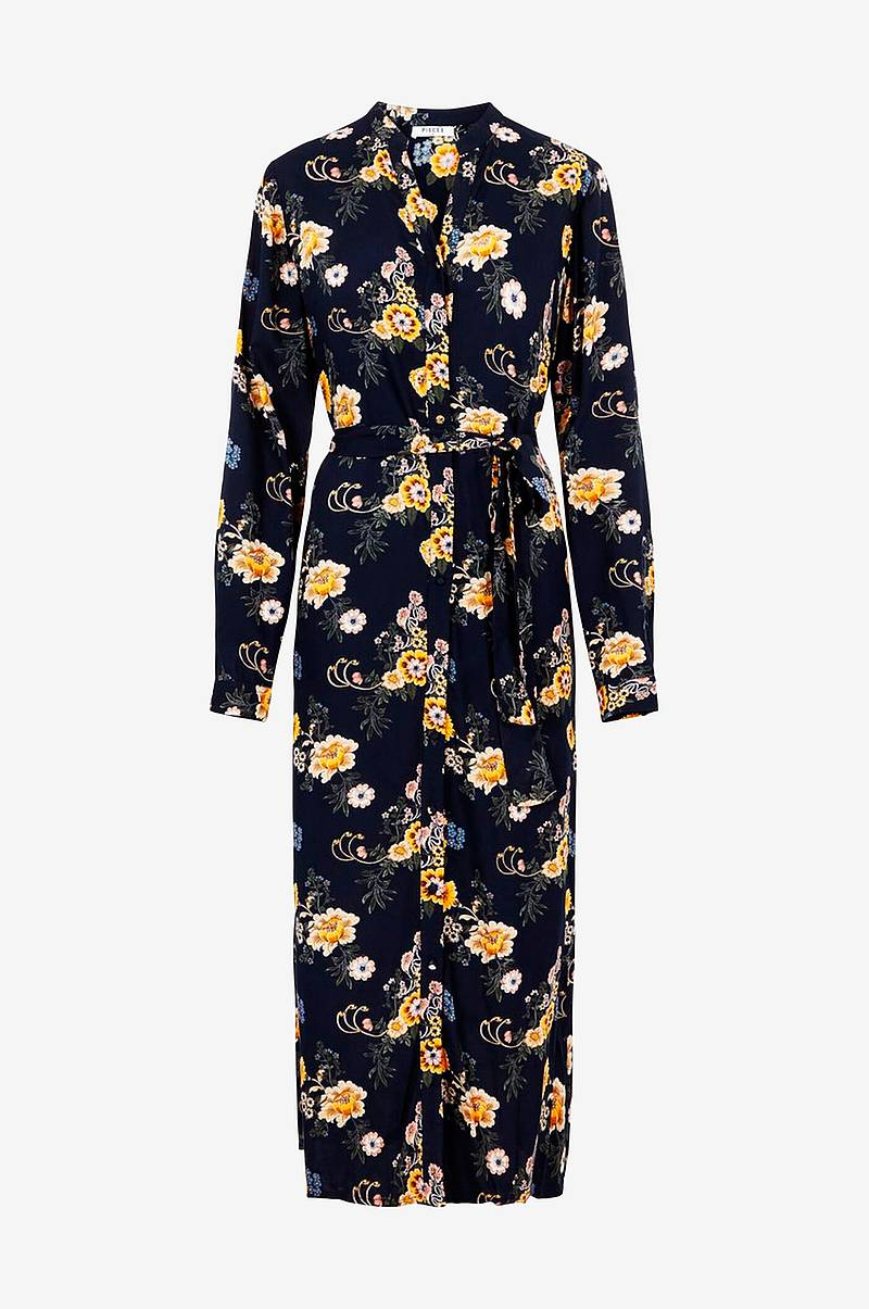 Mekko pcJanina LS Shirt Midi Dress