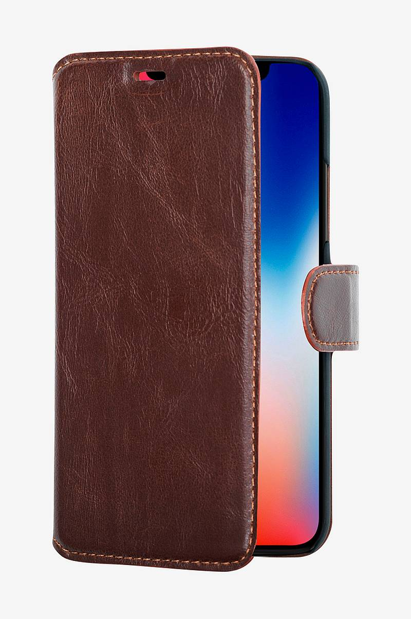Slim Wallet Case iPhoneX/XS Ruskea