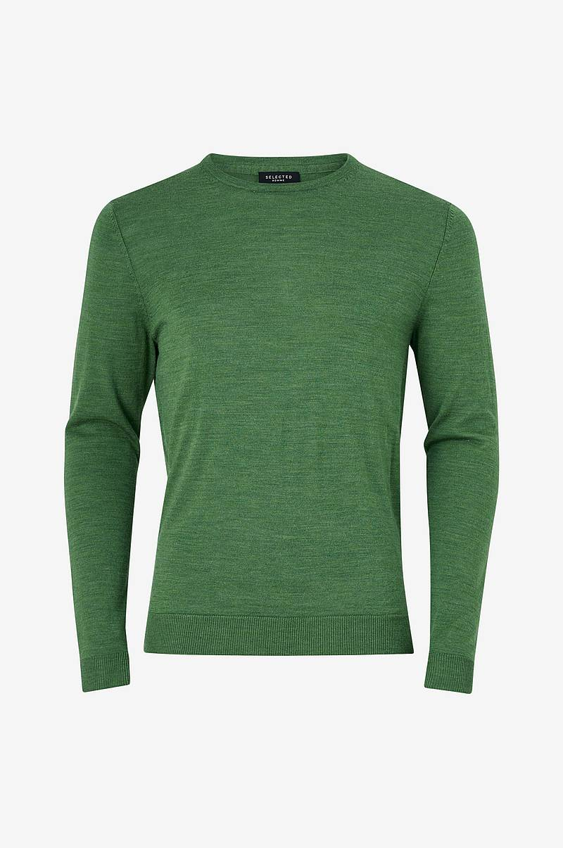 Tröja slhTower New Merino Crew Neck B